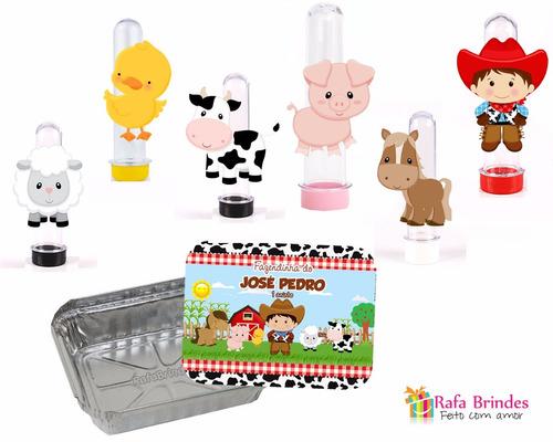 kit festa infantil personalizado fazendinha - 40 peças