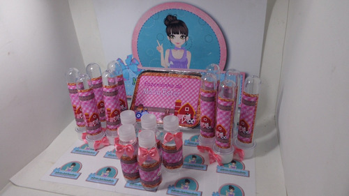 kit festa infantil personalizado fazendinha menina