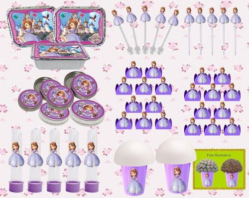 kit festa infantil princesa sofia 160 pças