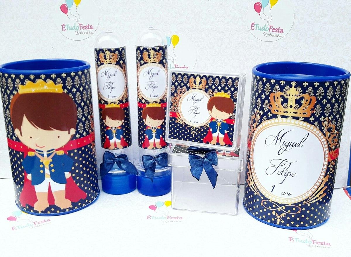 Kit Festa Infantil Realeza Principe Azul Marinho R$ 92,00 em Mercado Livre