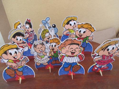 kit festa junina monica de mesa,display,festa infantil,mdf