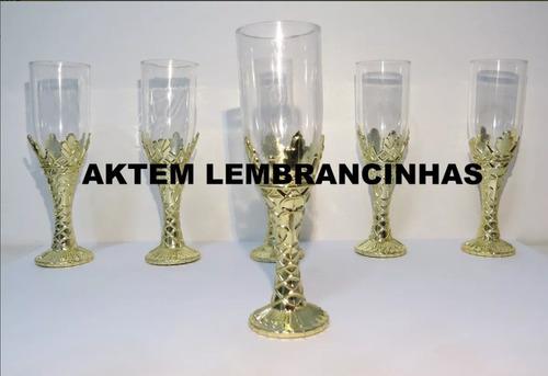 kit festa ludeaurelio decoração 10 de cada  tudo dourado