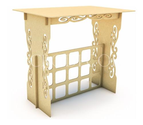 kit festa mdf provençal 03 peças mesa infantil cubo