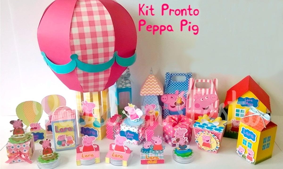 Kit Festa Pepa Pig Para Imprimir E Recortar Silhouettes R 1