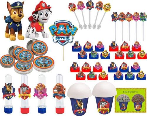 kit festa patrulha canina 99 peças (10 pessoas)
