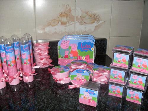 kit festa peppa pig com 150 unidades - george pig, minecraft
