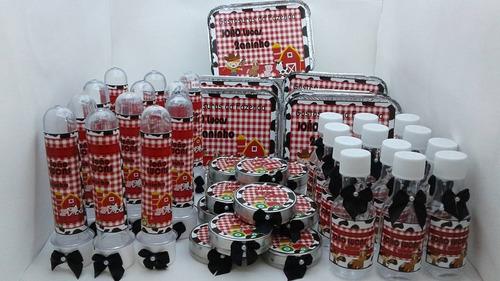 kit festa  personalizadas fazendinha 40 peças