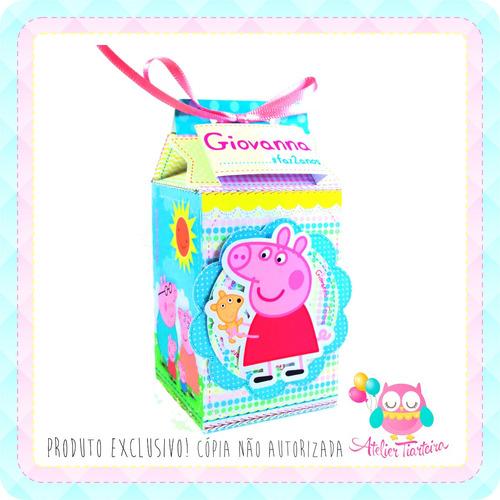 kit festa personalizado peppa pig - 70 itens + brinde
