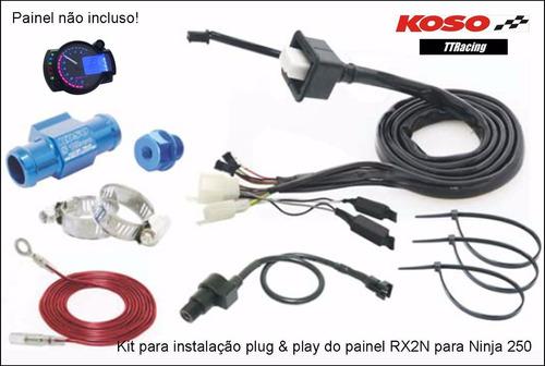 kit fiação instalação painel rx2n kawazaki ninja 250r #1196