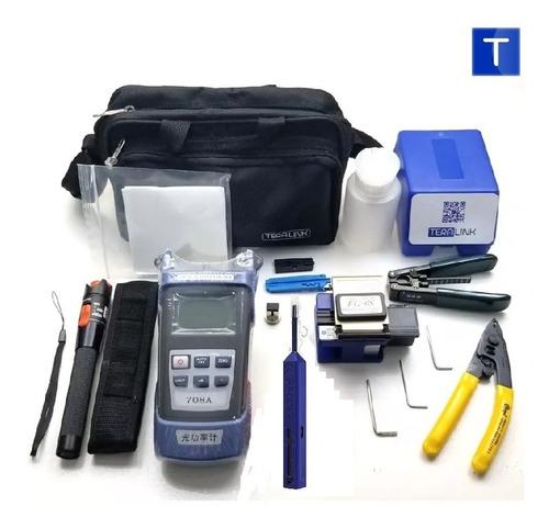 kit fibra óptica ftth 16 pzas power meter, vfl, lápiz 1.25