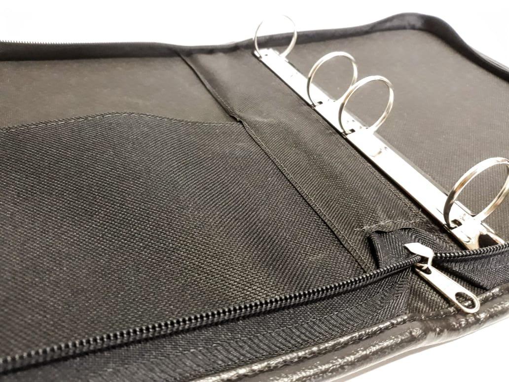 ceed6df40 Kit Fichário Colegial 1/4 Modelo Pequeno + Estojo Azul Jeans - R$ 80 ...