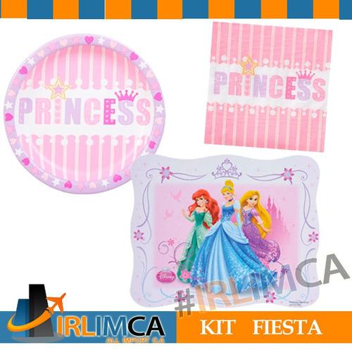 kit fiesta combo cumpleaños manteleria princesa irlimca