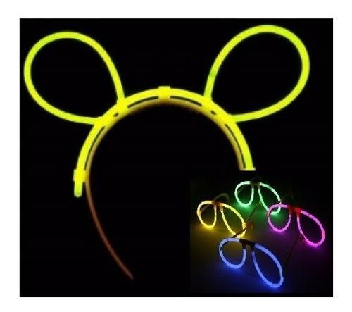 kit fiesta glow neón gafas pulseras diademas 120 artículos