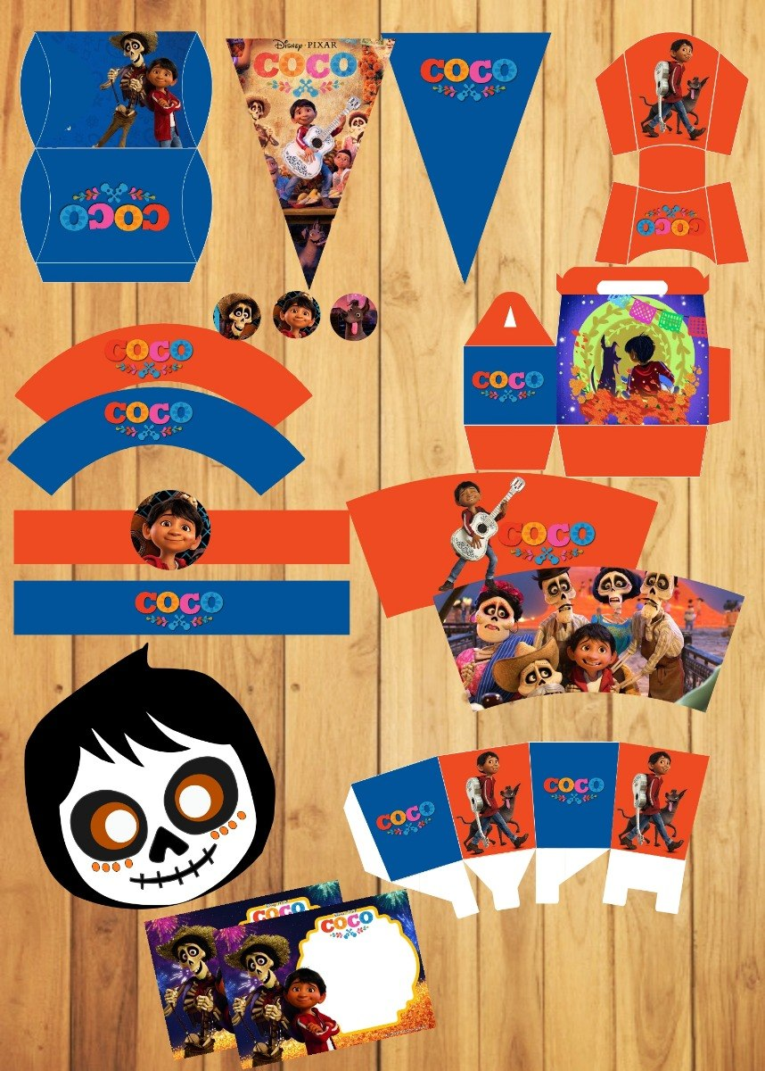 Kit De Fiesta Coco Disney Imprimible Candy Bar - $ 2.990 en Mercado ...