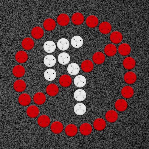 kit figura prohibido giro a la izquierda - punto