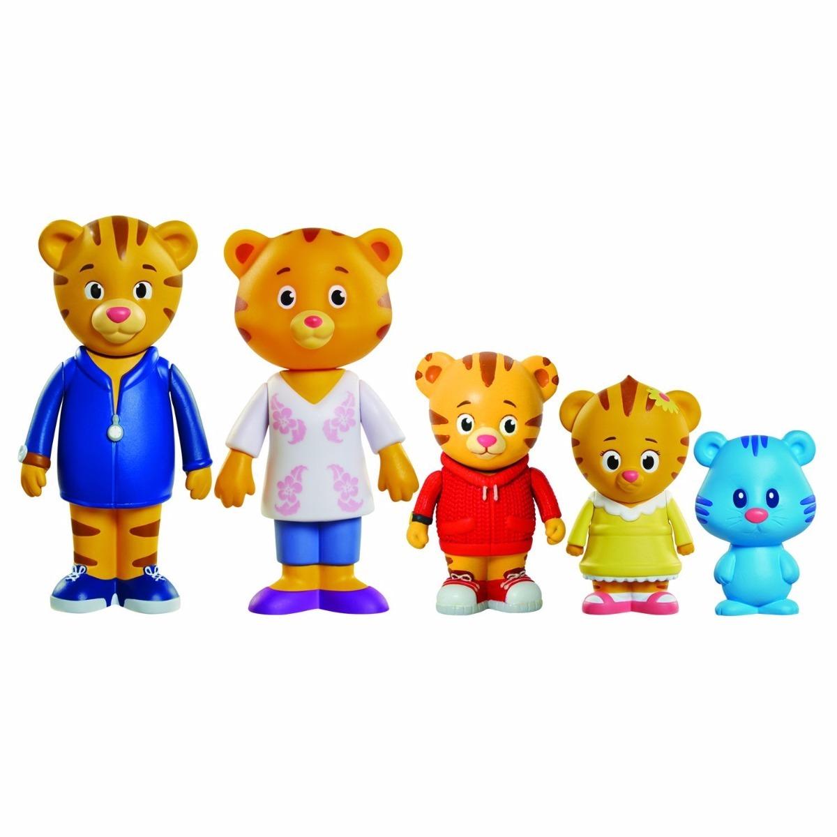 Kit Figuras Daniel Tigre Familia Com 5 Personagens R 145 00 Em