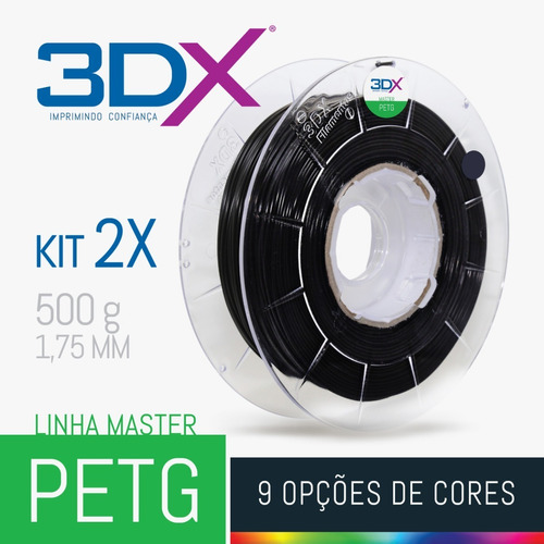 kit filamento petg 1,75 mm | 2 x 500g