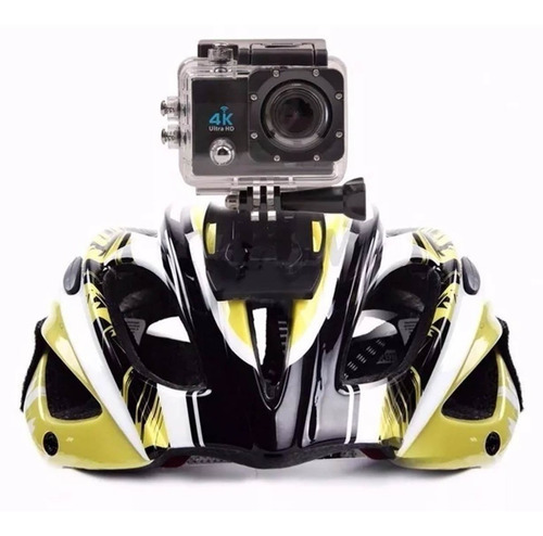 kit filmadora action câmera 4k c/ cartão 32gb + bat. extra