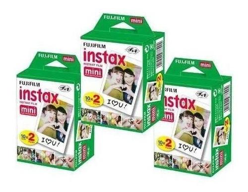 kit filme instax mini 60 fotos instantaneas