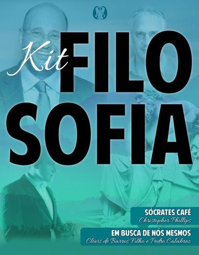 kit - filosofia  sócrates café + em busca de nós mesmo