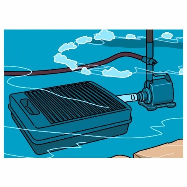 Kit filtracion estanque hasta 2000lts filtro bomba y for Filtros para estanques pequenos