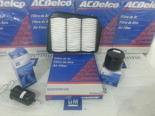 kit filtro (3) aceite, aire motor , gasolina optra original