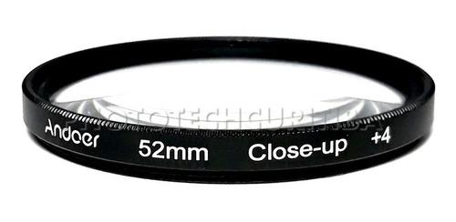 kit filtro 52mm close up andoer +1 +2 +4 +10 filtro macro