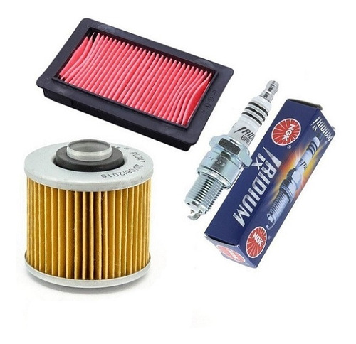kit filtro ar+filtro oleo+vela iridium xt 660
