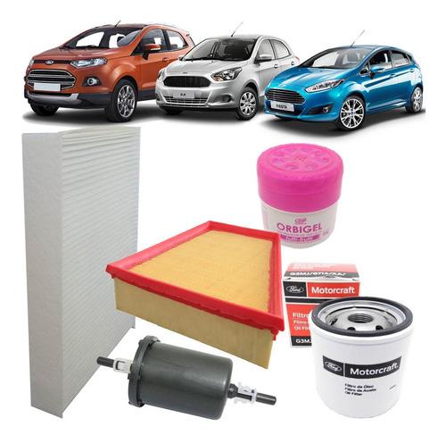 kit filtro ar óleo combustivel cabine ar condicionado - ford new fiesta nova ecosport novo ka - 1.0 12v 1.5 16v 1.6 16v