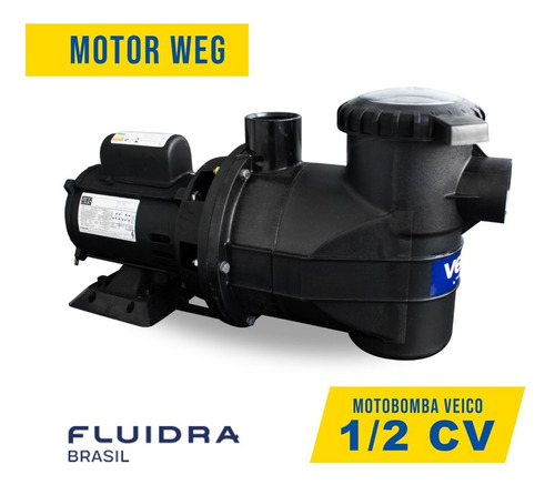 kit filtro com motobomba 1/2cv weg veico piscinas até 40m³