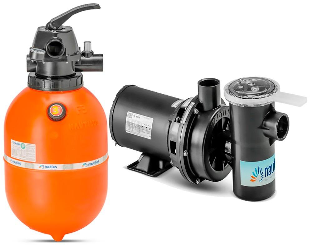 Kit filtro f350 bomba nbf1 1 3 frete gratis nautilus for Filtro piscina