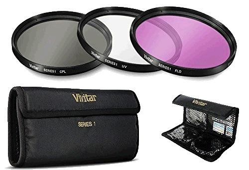 kit filtro lentes camaras nikon 3 piezas 52mm uv cpl fld