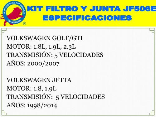 kit filtro y junta jf506e 09a vw bora jetta golf/gti