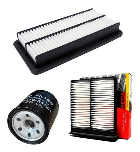 kit filtros ar condicionado + ar motor + oleo suzuki sx4