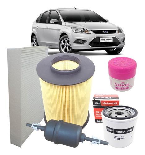 kit filtros ar óleo combustivel cabine ar condicionado - ford focus 1.6 16v 2.0 16v 2009 2010 2011 2012 2013
