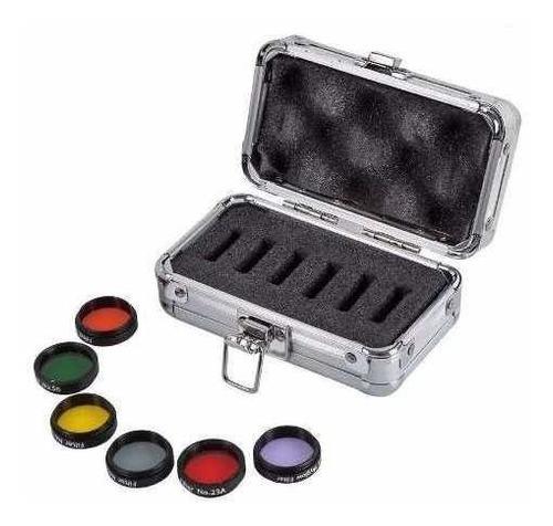 kit filtros coloridos + lua & skyglow filtro para telescópio