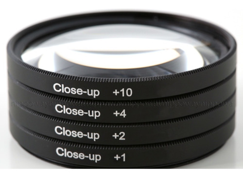 kit filtros lentes close up +1+2+4+10 macro 67mm canon sx60