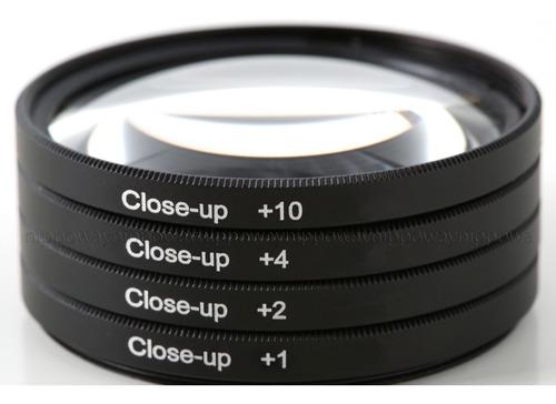 kit filtros lentes close up +1+2+4+10 macro canon sx520 530