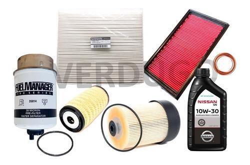 kit filtros y aceite nissan np300 - original