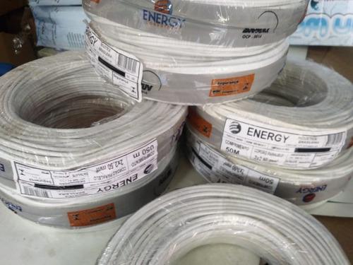 kit fio cordão paralelo branco 2x2,5mm 100m sendo 2x50m full