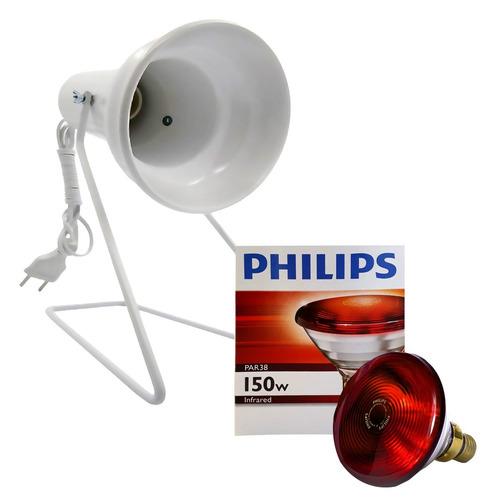 kit fisioterapia suporte infra + lampada philips 150w 230v