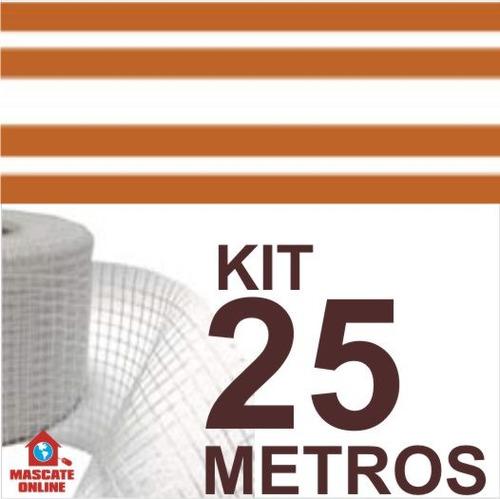 kit fita elétrica 4 pistas 25 metros eletrofitas tela fibra