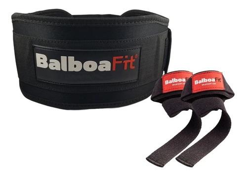 kit fitness cinturon de fuerza straps balboafit