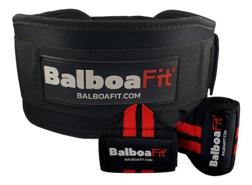 kit fitness cinturon + muñequeras balboafit crossfit gym cuotas