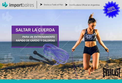 kit fitness entrenamiento everlast cuerda soga faja training