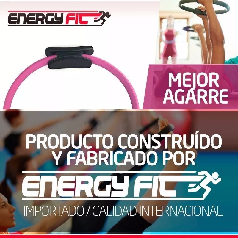 Kit Fitness Flex Ring Pilates + Rueda Abdominales Doble Ab -   719 ... b71558a46aa4