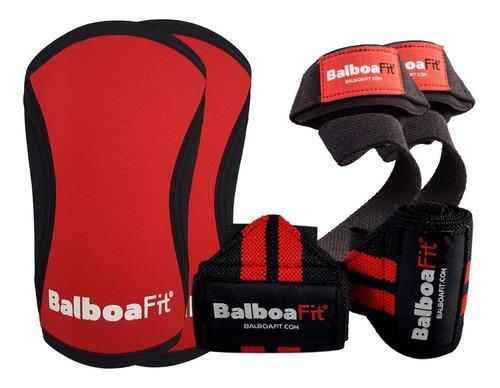 kit fitness muñequera rodilleras straps balboafit