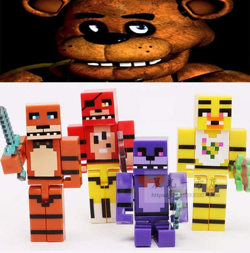 kit five night freddy bonecos mini figura brinquedo intanfil