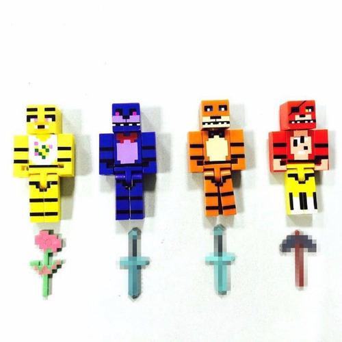 kit five night freddy bonecos mini figura brinquedo intanfil