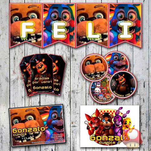 kit five nights at freddy's candy bar completo impreso! fnaf